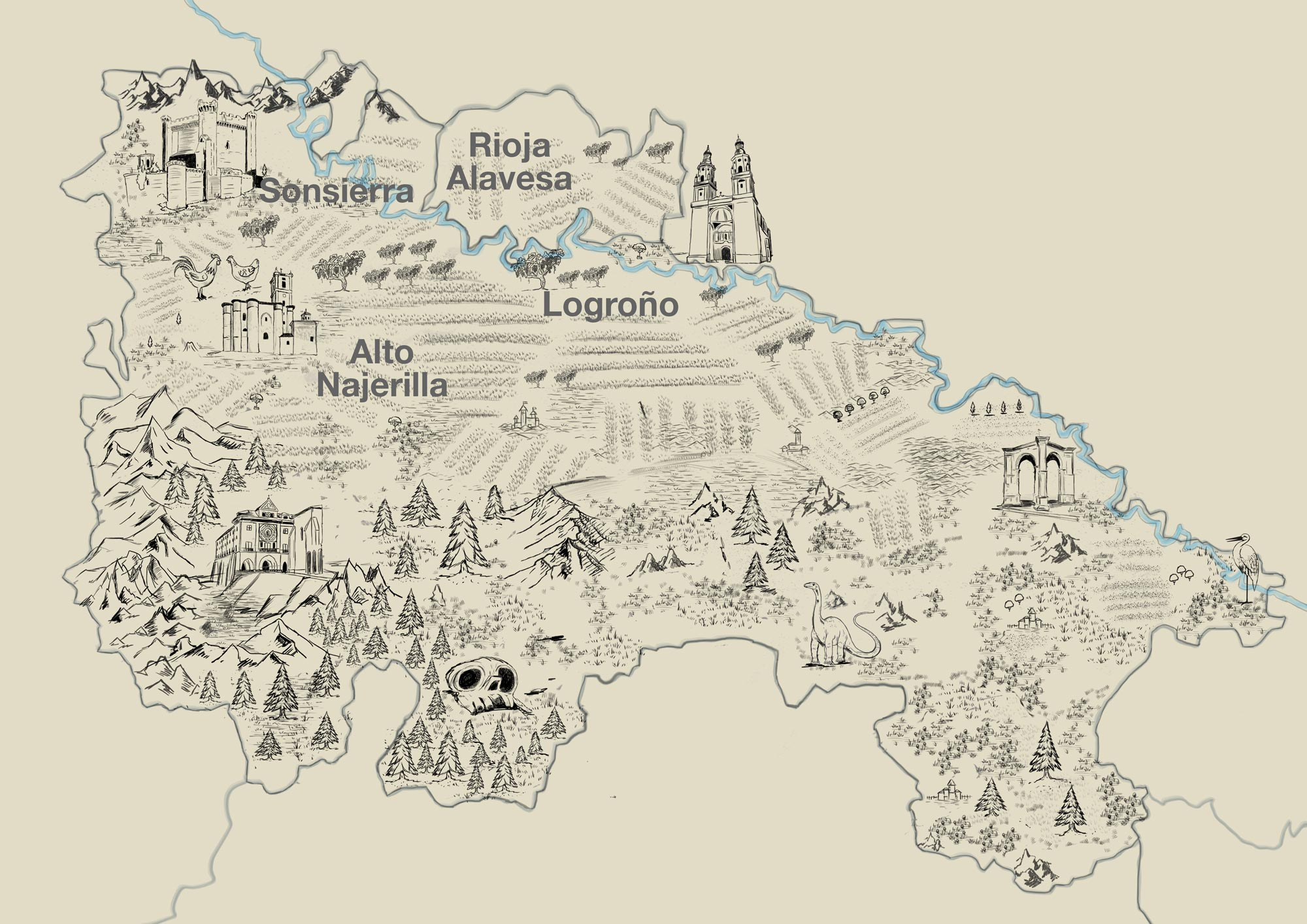 Ilustración Mapa de La Rioja